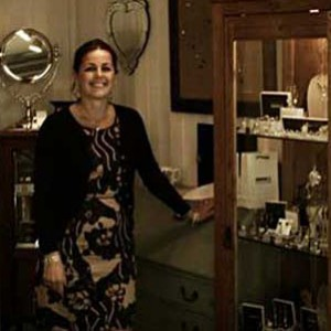 Jaqueline Lamb at her jewellery shop, Marla Jones.