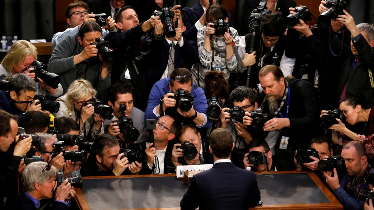 Facebook CEO Mark Zuckerberg in Capitol Hill
