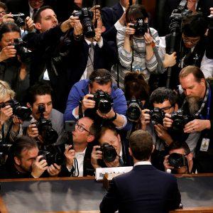 Facebook CEO Mark Zuckerberg in Capitol Hill
